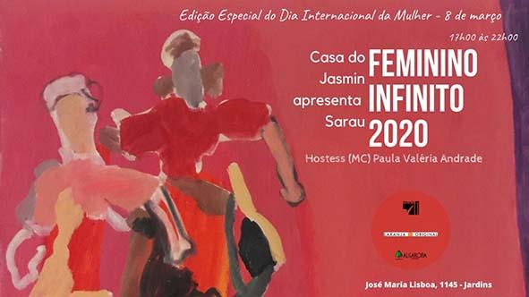 """Espaço de eventos Casa do Jasmin: Sarau """"Feminino Infinito"""" no dia Internacional da mulher!"""